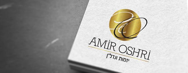 עיצוב לוגו לחברת בניה יזמות ונדלן אמיר אושרי