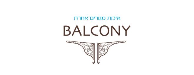 עיצוב לוגו עבור פרויקט נדלן בלקוני