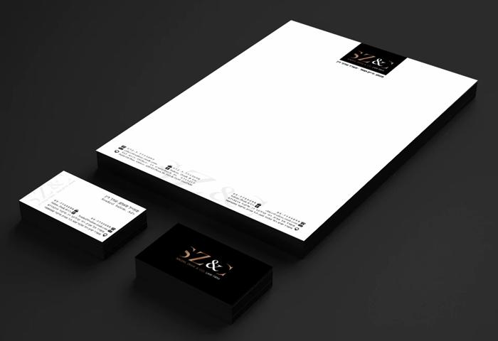 עיצוב גרפי כרטיס ביקור נייר מכתבים למשרד עורך דין