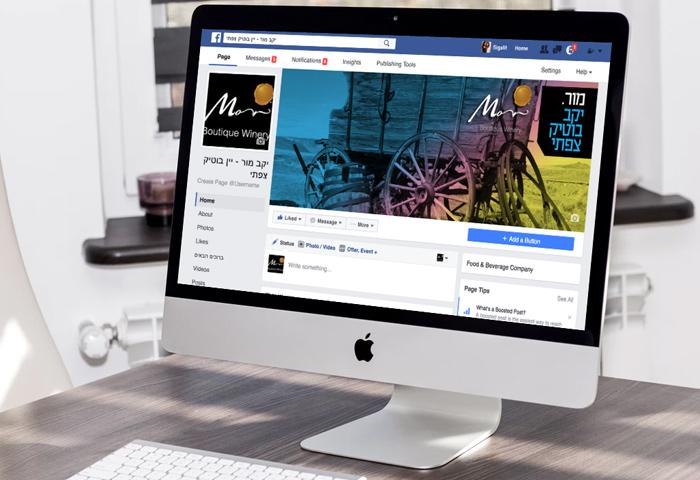 עיצוב גרפי לפייסבוק - עיצוב דף עסקי ליקב מור