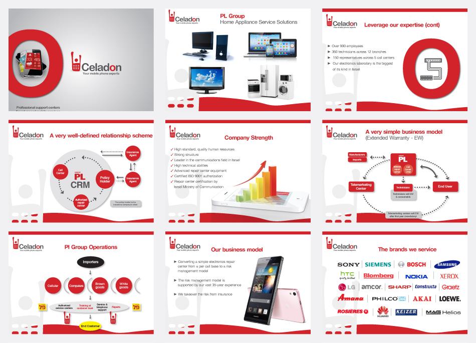 עיצוב גרפי מצגת לחברת סלדון