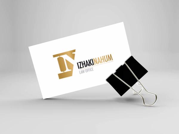 עיצוב לוגו לעורך דין יצחקי נחום
