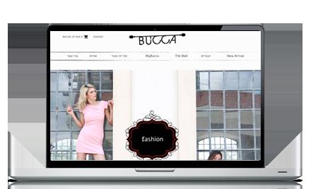 עיצוב בניית אתר קניות עבור bucca