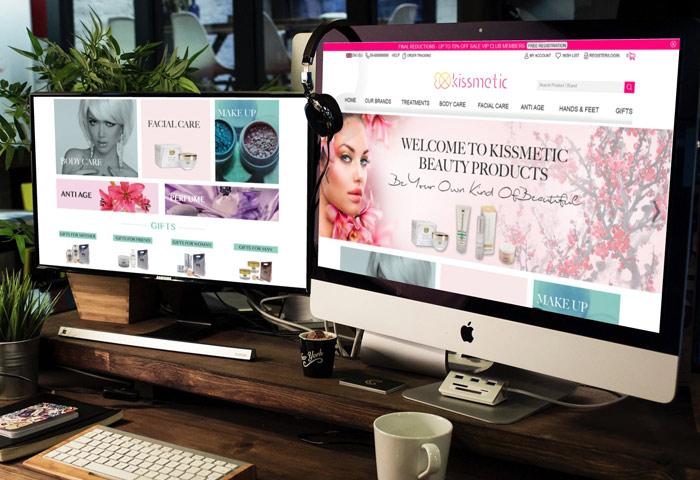 עיצוב גרפי אתר  מסחרי לחברת קוסמטיקה אונליין