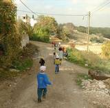 children on walk in Hilf