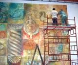 מאכזיב לנהריה, ציור קיר במידעטק נהריה,2004 ,אדריכל אריה דרור