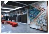 מגן הדסה לגן העיר, ציור קיר בסניף בנק לאומי, גן העיר ,תל אבי 1986, אדריכל רפי אלקין