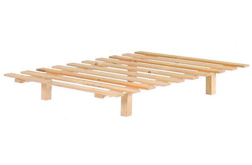 בסיס מיטה יחיד/זוגי מעץ אורן - סלאש