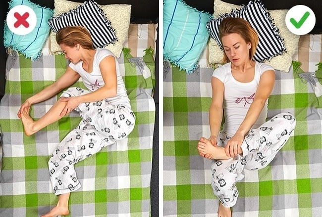 התכווצויות ברגליים במהלך השינה