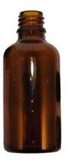 בקבוק זכוכית חום 200 מל פייה רחבה