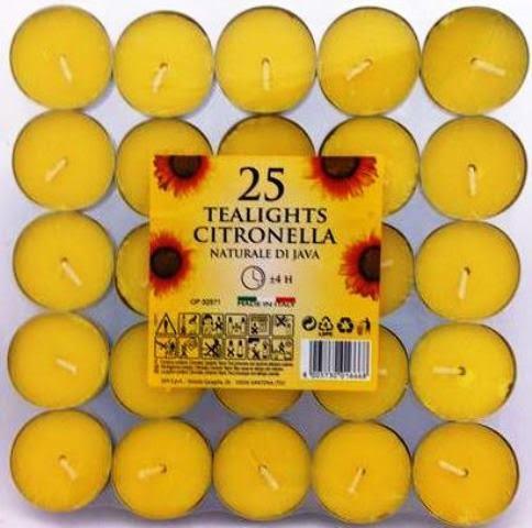 נרות ציטרונלה 25 יח
