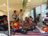 אוהל שאנטי גדול-עם מחצלות כריות,פופים ועוד