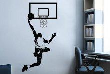 מדבקות קיר כדורסל