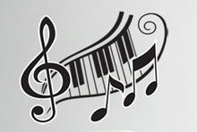 מדבקות קיר מוזיקה