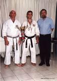 עם ראש עירית חיפה מר עמרם מצנע ואבי בוקלר לאחר זכייתו באליפות העולם לכבדי שמיעה