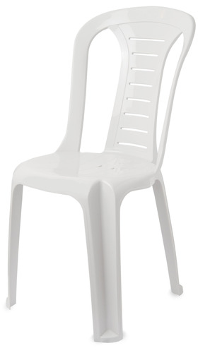 כסא פלסטיק לבן - white plastic chair