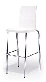 כסא בר לבן - White bar stool