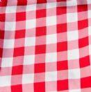 מפית בד - משובץ אדום לבן