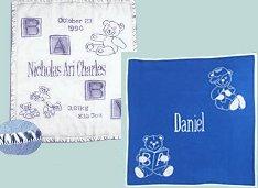 שובר מתנה - שמיכות תינוקות 100% כותנה עם סרט גימור של סטן + כירבולית