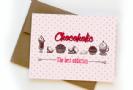 כרטיס ברכה - chocoholic the best addiction