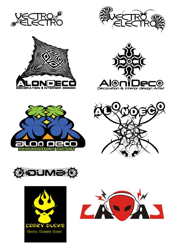 לימודי תעודה עיצוב גרפי עיצובים לוגואים