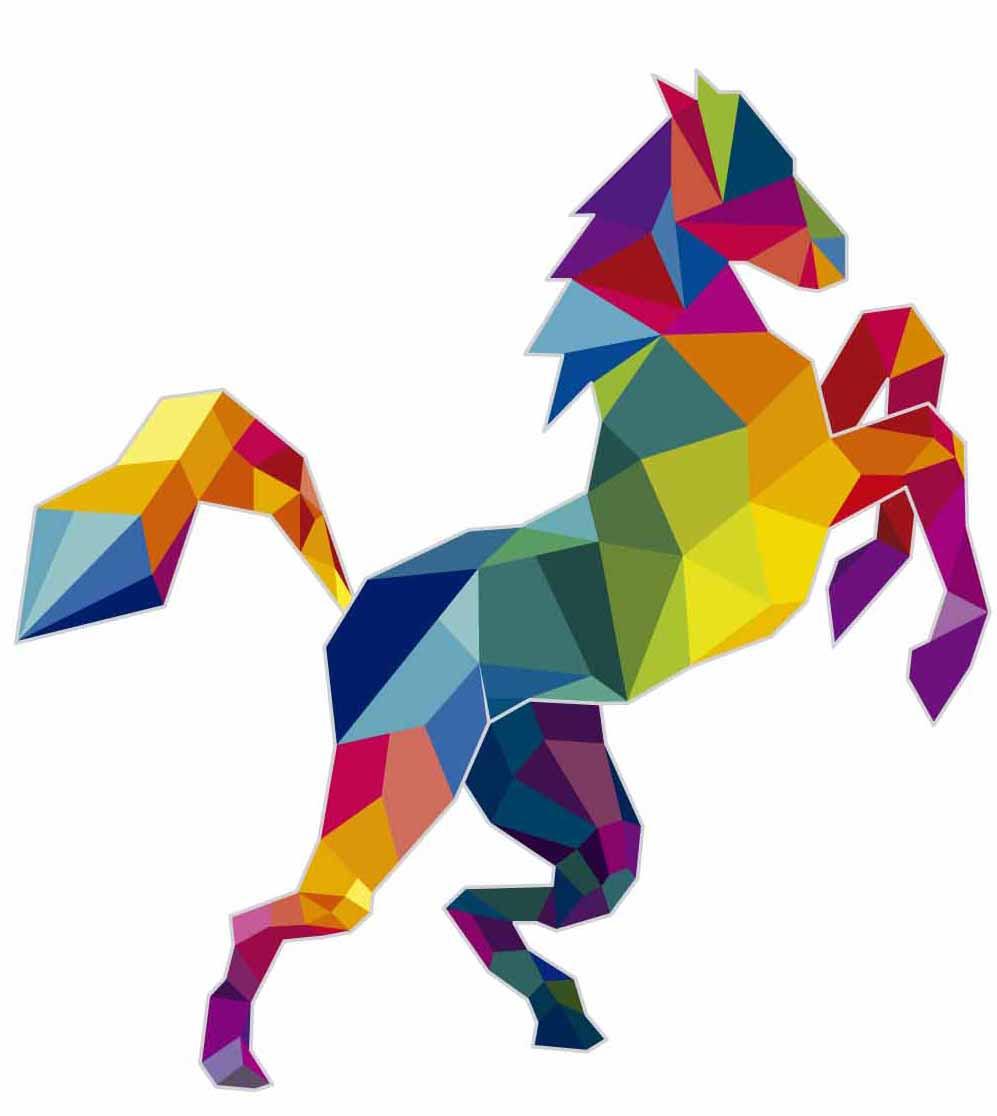 ציור דיגיטלי של סוס בגרפיקה ממוחשבת