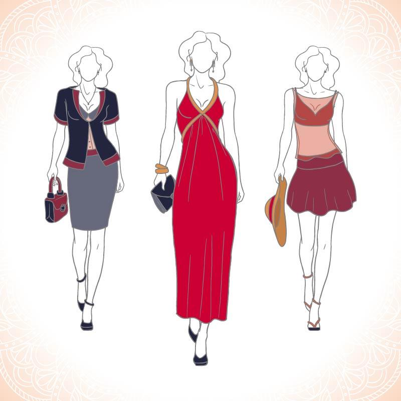 תוכנה למעצבי אופנה אילוסטרייטור הכנת שמלות נשים-01