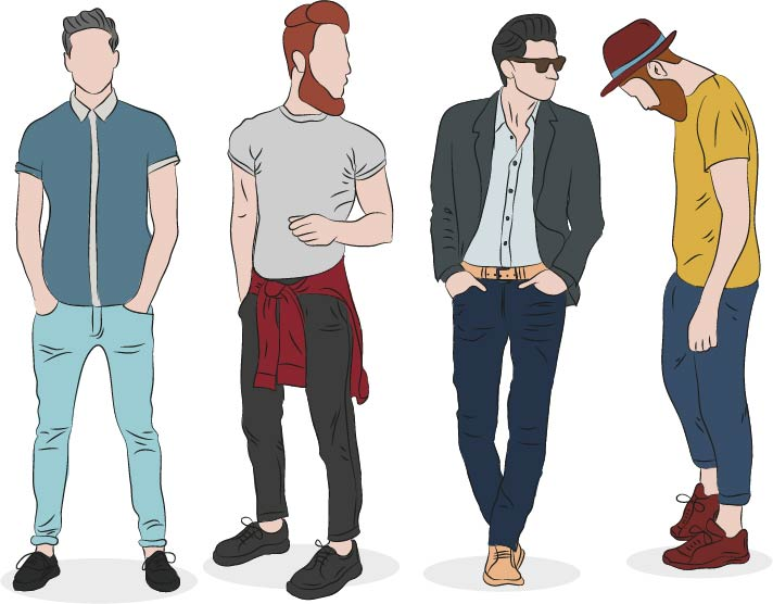 תוכנה לעיצוב אופנה בגדי גברים מכנסיים
