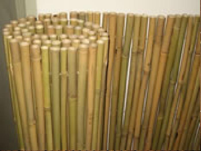 """גדר מחצלת במבוק מושחל (14-16) גובה 1 מטר - אורך 5 מטר, רק 27.9 ש""""ח למ""""ר"""