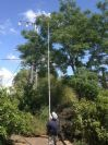 מוט טלסקופי עד 12 מטר גובה