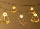 שרשרת סולארית 10 גיאומטרי זהב