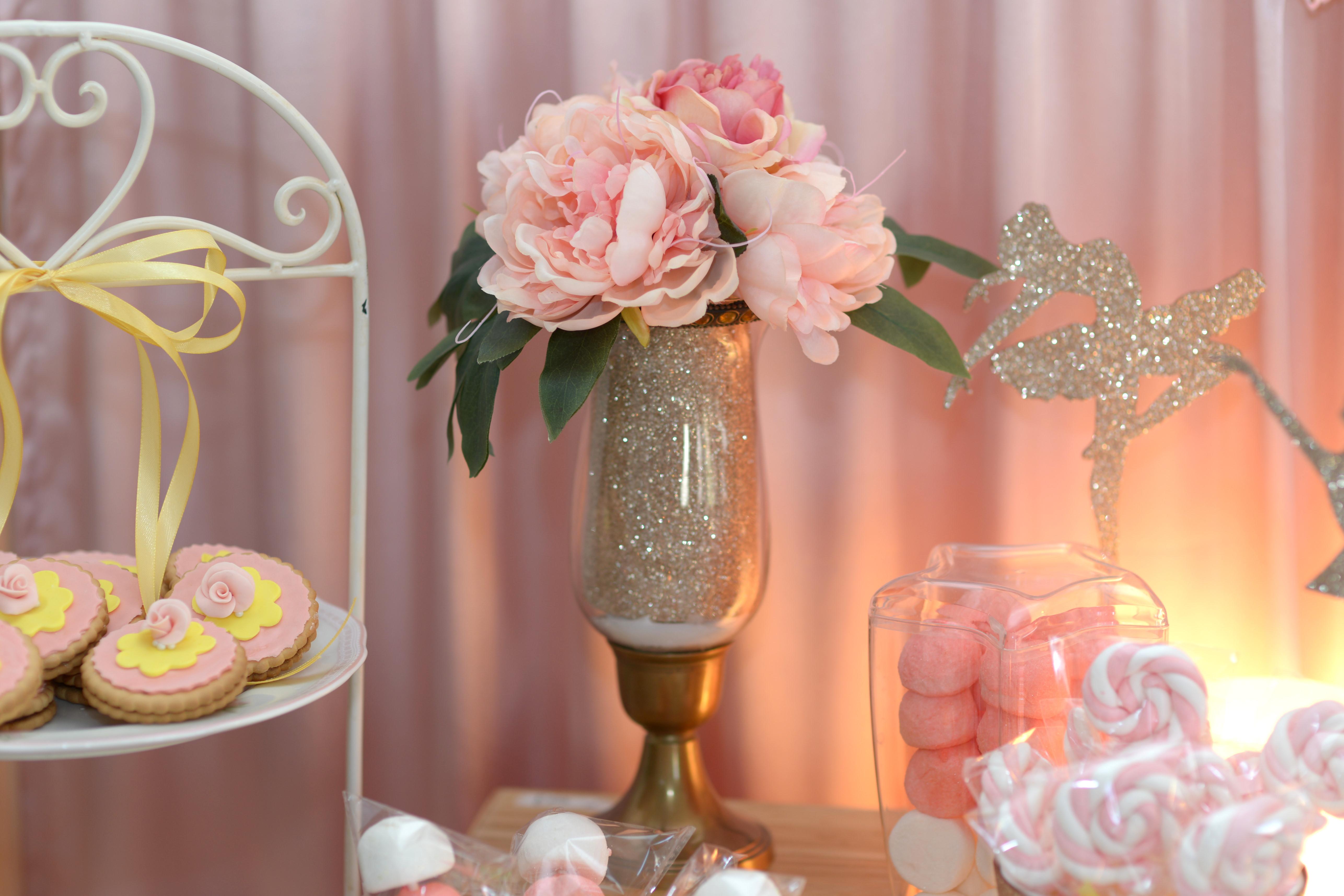 שולחן מתוק ליום הולדת לבת מצווה בלט