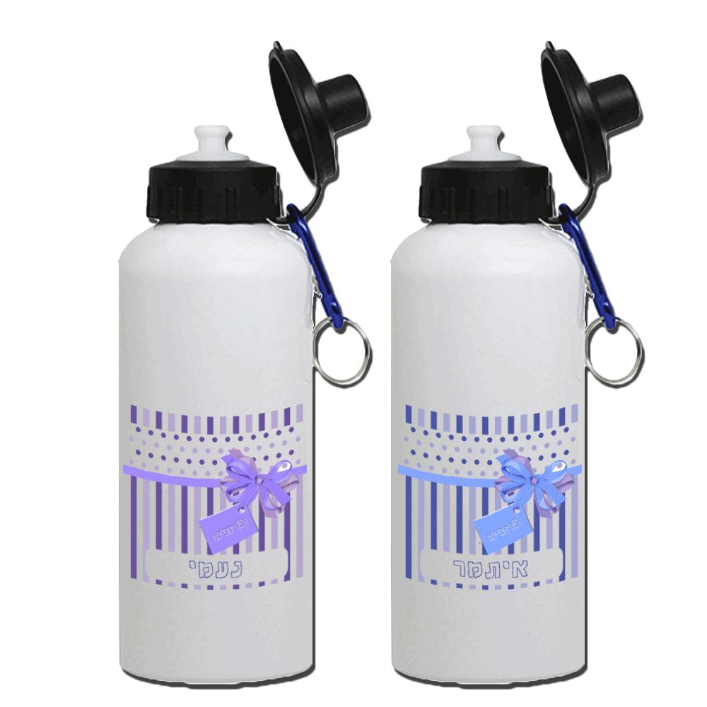 בקבוק אקולוגי מאלומיניום, עם הדפסה של שם או תמונה