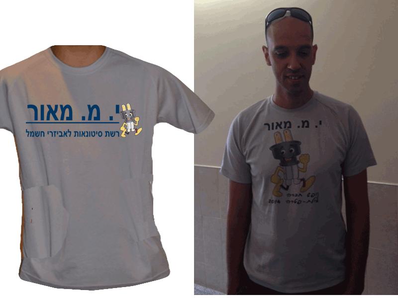 חולצה אפורה לאירוע עסקי: סופשבוע גיבוש של י מ מאור