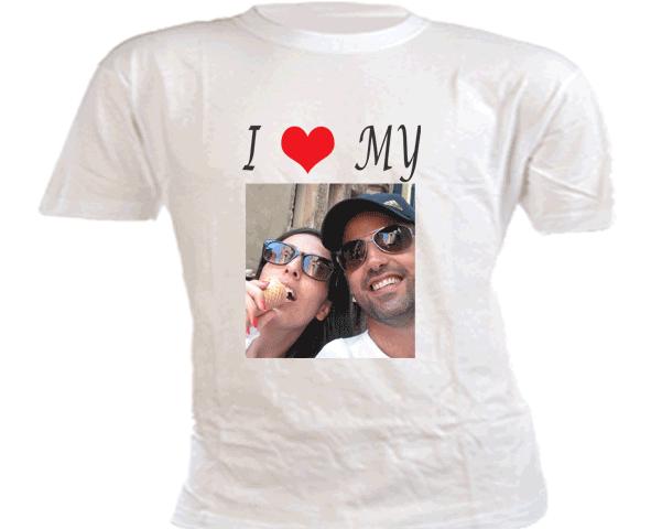 חולצה מודפסת עם תמונה ליום האהבה: I LOVE MY
