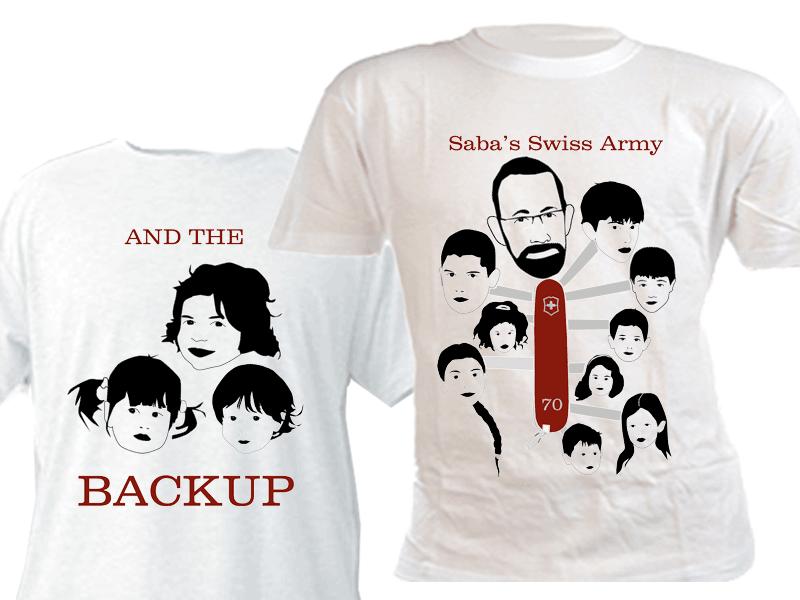 חולצות עם הדפס ליום הולדת 70 שעוצב על ידי הלקוח