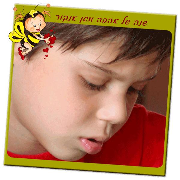 מגנט ממתכת לראש השנה לגני ילדים, דגם שנה של אהבה