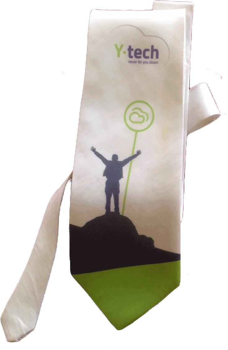 עניבה עם לוגו של חברה לאירוע עסקי (כנס)