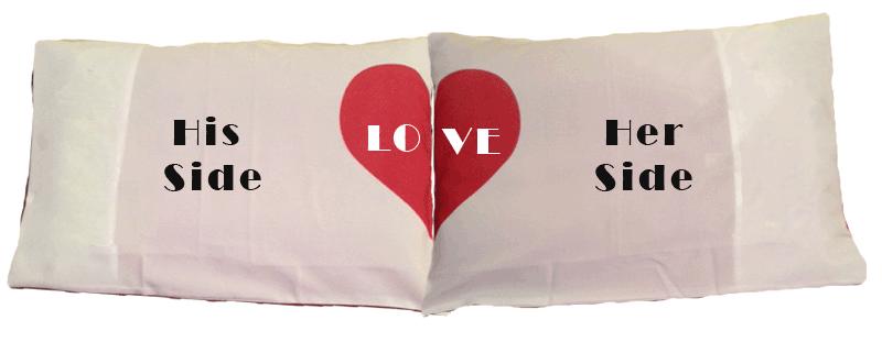 הדפסה על ציפות לאוהבים, דגם LOVE