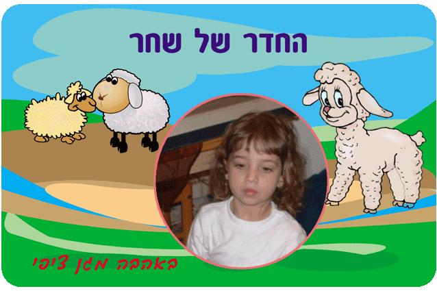 שלטים לחדרי ילדים, דגם כבשים