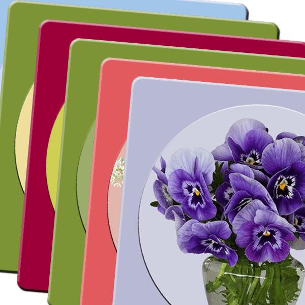 תחתיות מעץ לספלים דגמים שונים: אגרטלי פרחים