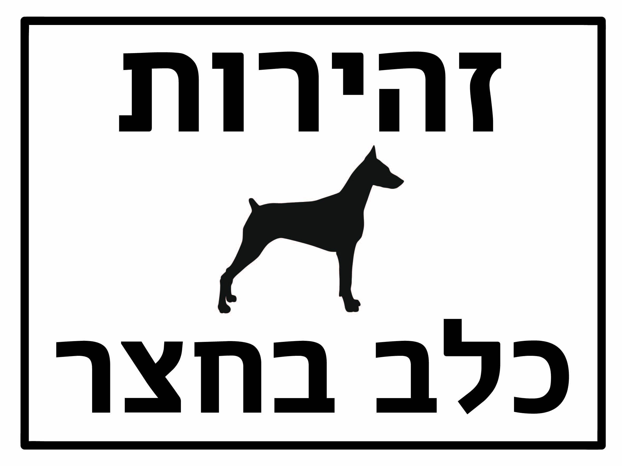 זהירות כלב בחצר גדלים לפי דרישה