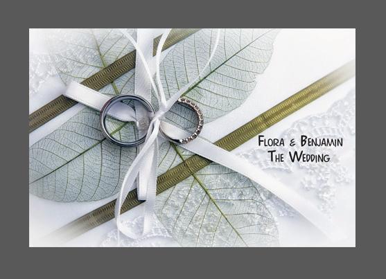 הזמנות לחתונה- פלורה ובן