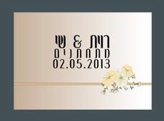 הזמנה לחתונה רוית ושי