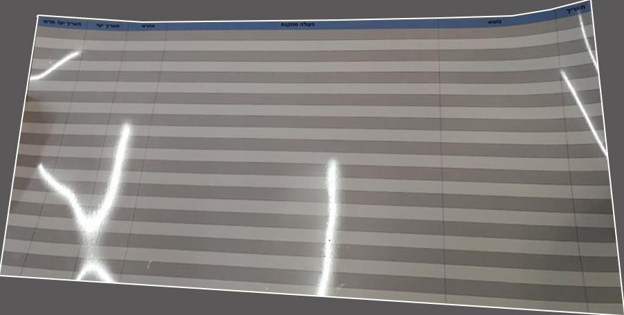 """לוח מחיק גמיש PVC 1 מ""""מ גודל 90\190 חברת לוריאל"""