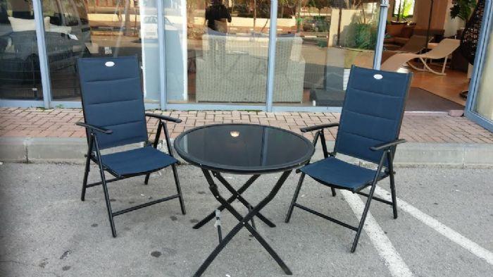 שולחן אלומיניום עגול מתקפל