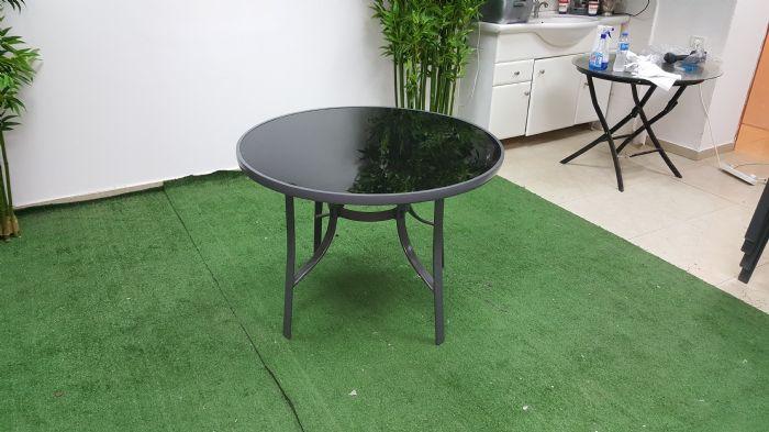 שולחן אלומיניום עגול - ריביירה
