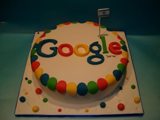 עוגה מעוצבת גוגל