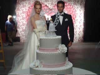 עוגת חתונה 3 קומות H&O
