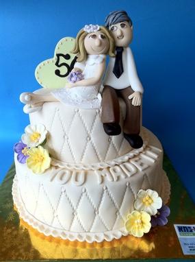 עוגה ל-50 שנות נישואים